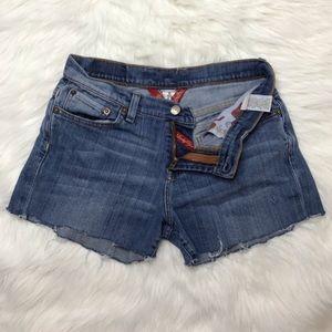 Lucky Brand distressed denim cutoff shorts sz 8/29